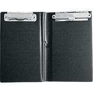sigel® kassa map KC626, 120 x 180 mm, met 2 metalen clips en pennenhouder.