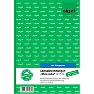 sigel® Lohnabrechnung LO519 für Mini- und Middi-Jobs, DIN A5 hoch, 50 Blatt, mit Blaupapier