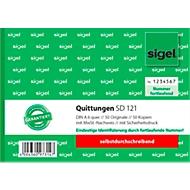 sigel® Quittungsblock SD 121, DIN A6 quer, fortlaufend nummeriert, selbstdurchschreibend
