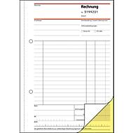 sigel® Rechnungsbuch mit fortlaufender Nummerierung SD131, DIN A5 hoch, 2 x 50 Blatt,