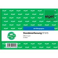 sigel® Stundenerfassung ST615, DIN A6, 50 Blatt, mit Blaupapier