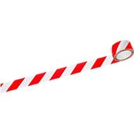 Signaalband, rood/wit, 6 rollen