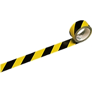 Signalband, gelb/schwarz, 6 Rollen