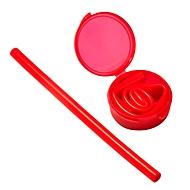Silikon-Trinkhalm, Rot, Standard, Auswahl Werbeanbringung optional