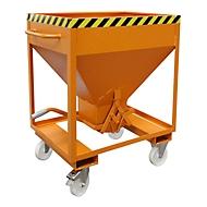 Silobehälter Typ SRE 375, Scherenverschluss, Inhalt 375 Liter, lackiert, orange RAL 2000