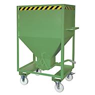 Silobehälter Typ SRE 600, Scherenverschluss, Inhalt 600 Liter, lackiert, grün RAL 6011