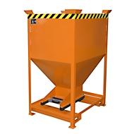 Silocontainer type SG-D 600, met insteekgaten voor hefwagen, gelakt, oranje