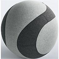 Sitzball DOTTO, mit Stoffbezug, ø 650 mm, grau/anthrazit