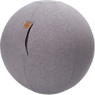 Sitzball FELT, Filzimitat 100% Polyester, waschbar, reißfest, Trageschlaufe, grau