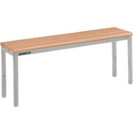 Sitzbank, für Umkleideräume, L 995 mm, lichtgrau