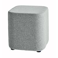 Sitzhocker TAPA Square O Type, Schurwolle, B 450 x T 450 x H 470 mm, grau