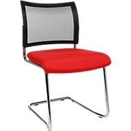 Sledestoel SEAT POINT, gaas, zonder armleuningen, stapelbaar, set van 2, rood