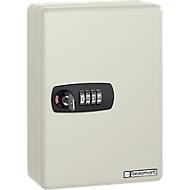Sleutelkast Keybox, 20 haken, lichtgrijs