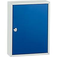 Sleutelkast TS42, voor 42 sleutels, lichtgrijs/gentiaanblauw