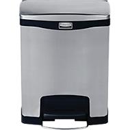 Slim Jim® Step-ON-pedaal-afvalbak, 30 L, tweevoudige binnenemmer