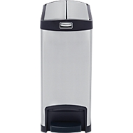 Slim Jim Step-ON pedaal-afvalbak, van rvs, 30 liter, zwart