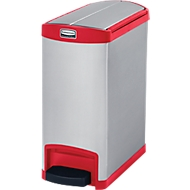 Slim Jim Step-ON Tretabfallbehälter, aus Edelstahl, 30 Liter, rot