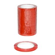 Sluitlint, geschikt voor zakkensluiters, B 12 x Ø 76 mm, 12 rollen, vinyl, rood
