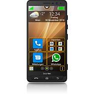 Smartphone Bea-fon M5 premium, XXL 5,5″-Display, Android 8.1, SOS-Notruftaste, mit Ladegerät, anthrazit