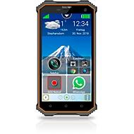 Smartphone Bea-fon X5 premium, IP68, 5″-Multi-Touch-Display, SOS-Funktion, schwarz-orange