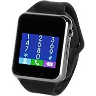 Smartwatch Connect, Bluetooth, multifunktional, Micro-USB Kabel, Werbedruck 35 x 10 mm, schwarz