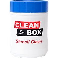 SMD-stencilreinger CLEAN BOX Stencil Clean, 100 doekjes in dispenserdoos, scheurvast, pluist niet