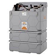 Smeermiddelentank CEMO CUBE Indoor Premium, 230 V elektrische pomp, 9 l/min, B 1200 x D 800 x H 1740 mm, 1000 l volume