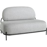 Sofa ADMIRAAL, retro-look, B 1245 x D 710 x H 770 mm, grijs