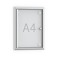 Softline-Flachschaukasten MSK1, rahmenlose Tür, 1 x DIN A4