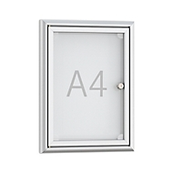 Softline ondiep informatiebord BSK1, aluminium frame, 1 x A4, B 284 x H 374 mm