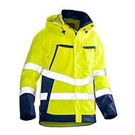 Softshell Jacke Jobman 1283 PRACTICAL, Hi-Vis, EN 343 I EN ISO 20471 Klasse 3, gelb I dunkelblau, Polyester, XS
