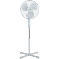Sokkelvormige ventilator, Ø rotor 400 mm, 3 snelheidsniveaus, in hoogte verstelbaar, B 600 x D 600 x H 1250 mm, wit