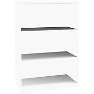 SOLUS boekenkast, 3 OH, B 800 x D 420 x H 1123 mm, wit