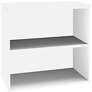 SOLUS opzet boekenkast, 2 OH, B 800 x D 420 x H 720 mm, wit