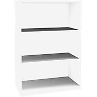 SOLUS opzet boekenkast, 3 OH, B 800 x D 420 x H 1080 mm, wit