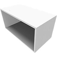 SOLUS PLAY boekenkast, 1 OH, B 800 x D 420 x H 374 mm, wit