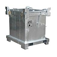 Sonderabfall-Behälter BAUER SAP 450-1, Stahlblech, feuerverzinkt, stapelbar, B 1200 x T 1000 x H 835 mm