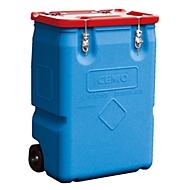 Sonderabfallbehälter CEMO Mobilbox, 250l, Polyethylen, stapelbar, B 600 x T 600 x H 890 mm, rot