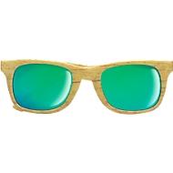 Sonnenbrille, aus ABS, Gestell in Holzoptik, UV 400-Schutz