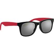 Sonnenbrille, Kunststoff,  rot/schwarz