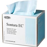 Sontara® EC crêpe poetsdoeken, turquoise, 250 doeken/dispenserdoos