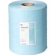 Sontara® EC crêpe poetsdoeken, turquoise, 400 vellen/rol