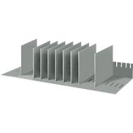Sorteerstation, A4, polystyreen, voor kasten, 8 vakken, B 700 x D 275 x H 210 mm