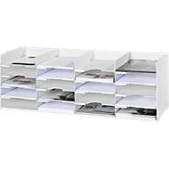 Sorteerstation, wit, 20 vakken voor formaten 240 x 320 mm B 897 x D 304 x H 313 mm