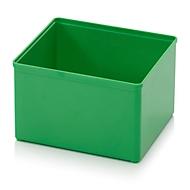 Sortimentskasten Einsatzkasten, für Rastergröße 2 x 2, rechteckig, grün