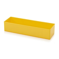 Sortimentskasten Einsatzkasten, für Rastergröße 2 x 6, rechteckig,  gelb