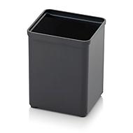 Sortimentskasten Einsatzkasten, quadratisch, robuster Kunststoff, anthrazit