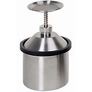 Sparanfeuchter, Edelstahl 1.4404, 2 l, Ø 131 x H 305 mm, federnd gelagerter Tränkteller