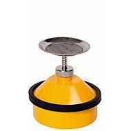 Sparanfeuchter, Stahlblech, gelb, 1 l, Ø 178 x H 200 mm, federnd gelagerter Tränkteller
