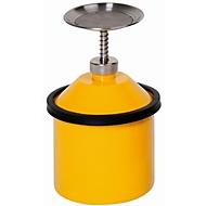 Sparanfeuchter, Stahlblech, gelb, 2,5 l, Ø 178 x H 290 mm, federnd gelagerter Tränkteller